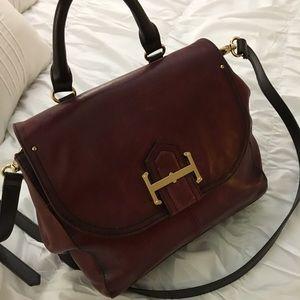 Tignanello Burgundy Leather Crossbody Handbag